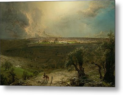 Jerusalem View From The Mount Of Olives Metal Print by MotionAge Designs