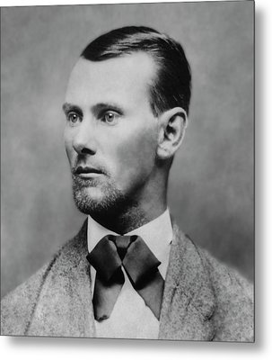 Jesse James -- American Outlaw Metal Print