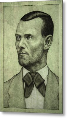 Jesse James Metal Print by James W Johnson