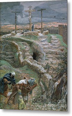 Jesus Alone On The Cross Metal Print by Tissot