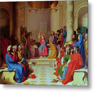 Jesus Among The Doctors Metal Print by Ingres