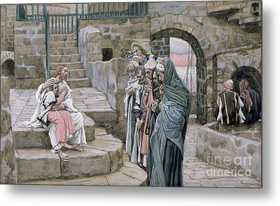 Jesus And The Little Child Metal Print by Tissot
