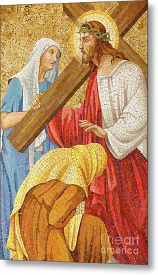 Jesus Carrying The Cross Metal Print by Unknown