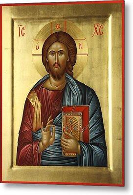 Jesus Christ Pantokrator Metal Print by Daniel Neculae