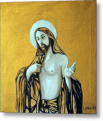 Jesus Icon Metal Print