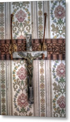 Jesus Is Hanging Metal Print