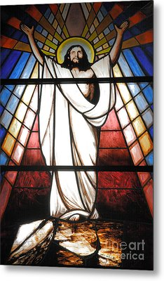 Jesus Is Our Savior Metal Print by Gaspar Avila