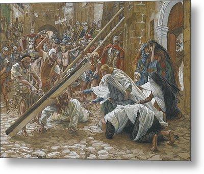 Jesus Meets His Mother Metal Print by Tissot