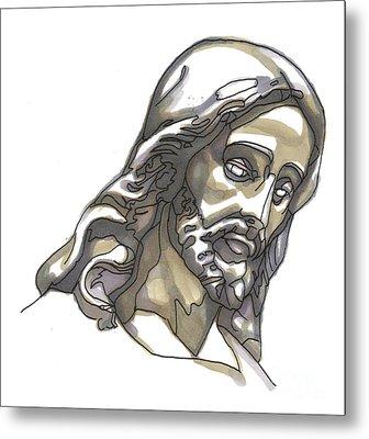 Jesus No 1 Metal Print by Edward Ruth