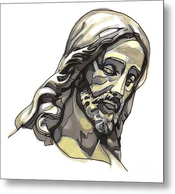 Jesus No 2 Metal Print by Edward Ruth