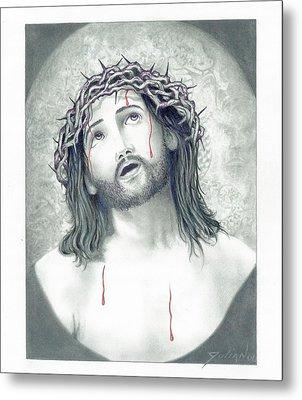 Jesus Of Nazareth Metal Print by Julian  B