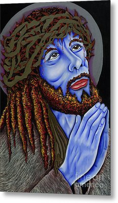 Jesus Peace Metal Print by Nannette Harris