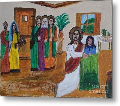 Jesus Raises A Dead Girl Metal Print by Seaux-N-Seau Soileau