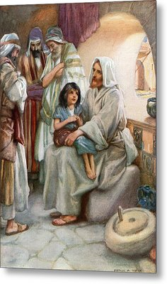 Jesus Teaching The People Metal Print by Arthur A Dixon