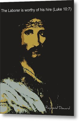 Jesus The Son Metal Print by Raymond Doward