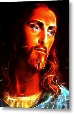 Jesus Thinking About You Metal Print