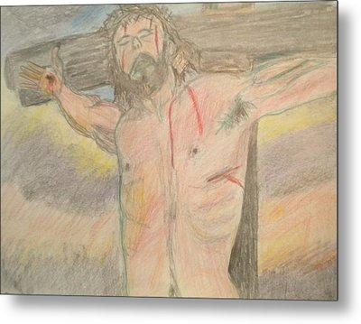 Jesus  Metal Print by Victoria Hasenauer