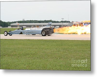 Jet Powered Funny Car Metal Print by Eric Irion