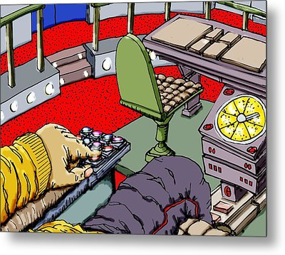 Jetisoning The Pod Metal Print by Gregg Dutcher