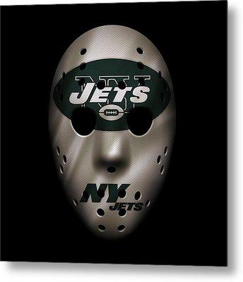 Jets War Mask Metal Print