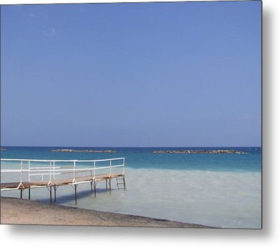Jetty Beach.  Metal Print