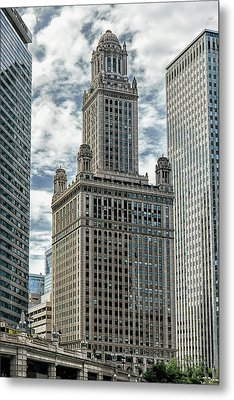 Jewelers Building Chicago Metal Print by Alan Toepfer