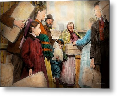 Jewish - Food For The Less Fortunate 1908 Metal Print by Mike Savad
