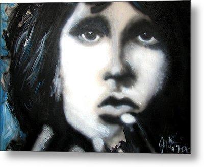 Jim Morrison Ravens Claws   Metal Print by Jon Baldwin  Art