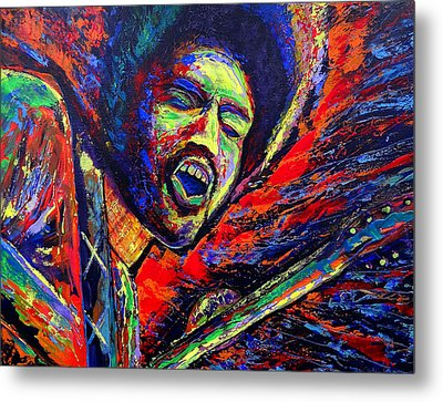 Jimi And The Blue Flames Metal Print by Jeremy Smith
