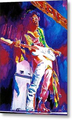 Jimi Hendrix - The Ultimate Metal Print by David Lloyd Glover