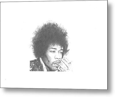 Jimi Hendrix Metal Print by Dan Lamperd
