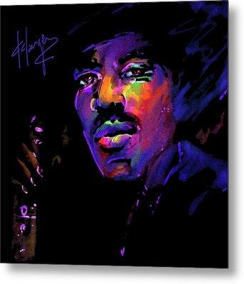 Jimi Hendrix Metal Print by DC Langer