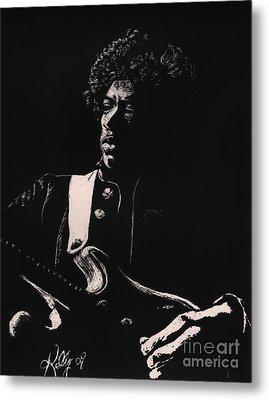 Jimi Hendrix Metal Print by Kathleen Kelly Thompson