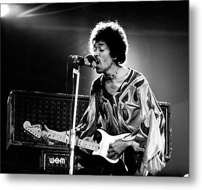 Jimi Hendrix Live Halo 1970 Metal Print by Chris Walter