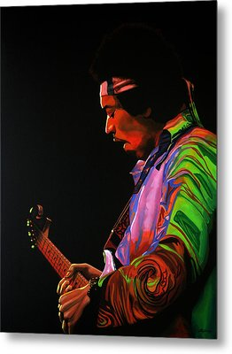 Jimi Hendrix 4 Metal Print by Paul Meijering