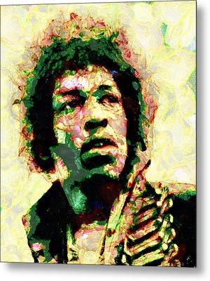Jimi Hendrix Metal Print by Galeria Zullian  Trompiz
