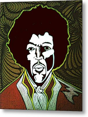 Jimi Metal Print by Jeff DOttavio