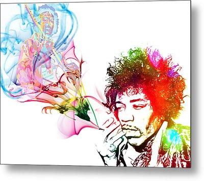 Jimmi Hendrix Metal Print by The DigArtisT