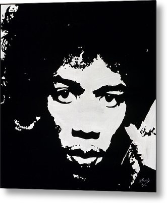Jimmy Hendrix Metal Print by Leeann Stumpf