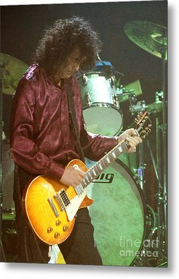Jimmy Page-0002 Metal Print by Timothy Bischoff