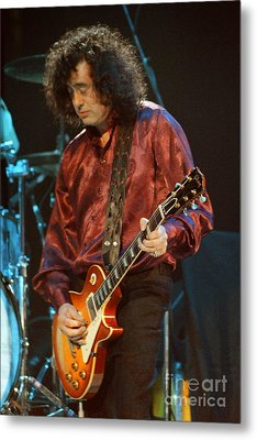 Jimmy Page-0020 Metal Print by Timothy Bischoff