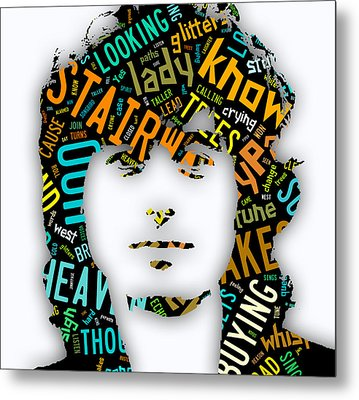 Jimmy Page Stairway To Heaven Metal Print by Marvin Blaine