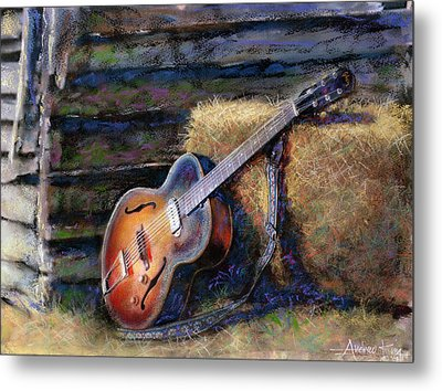 Jim's Guitar Metal Print