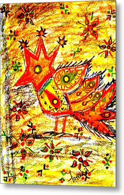 Jinga Bird II - Jinga Bird Series Metal Print
