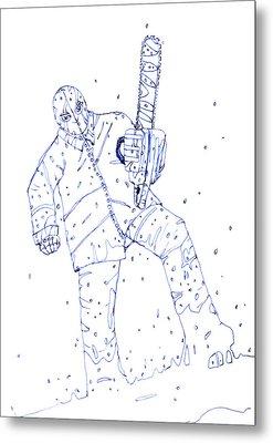 Jjr Comic Character A By Typhoonart Metal Print
