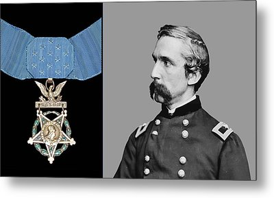 J.l. Chamberlain And The Medal Of Honor Metal Print