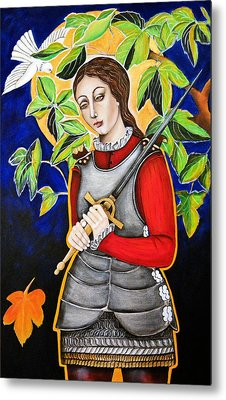 Joan Of Arc Metal Print by Christina Miller