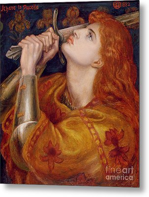 Joan Of Arc Metal Print by Dante Charles Gabriel Rossetti