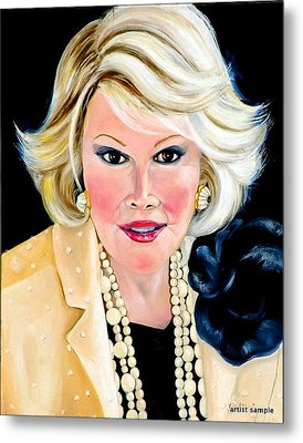 Joan Rivers Metal Print