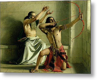 Joash Shooting The Arrow Of Deliverance Metal Print by William Dyce